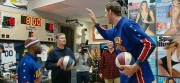 Dan shoots with the Globetrotters.