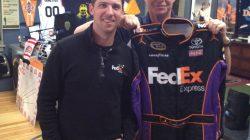 Dan hangs out with Denny Hamlin.