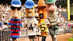Dan and Danettes in Sausage Race