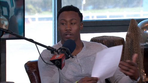 Jets WR Brandon Marshall reads his negative draft reviews