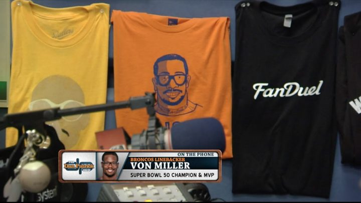 Von Miller on postgame celebration, Cam not diving on fumble