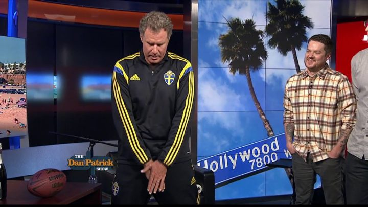 Will Ferrell poses for new NBA logos