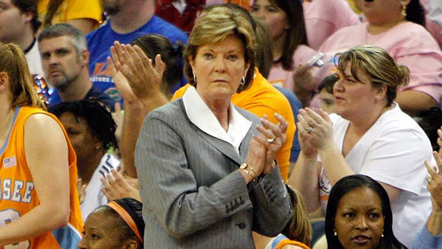GAINESVILLE, FL - FEBRUARY 08:  Head coach Pat Summitt of the Tennessee Volunteers watches her team against the Florida Gators during the game at the O'Connell Center on February 8, 2009 in Gainesville, Florida.  (Photo by J. Meric/Getty Images)