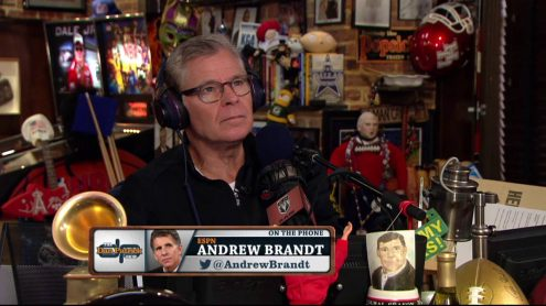 NFL business writer Andrew Brandt says ratings drop not a trend yet