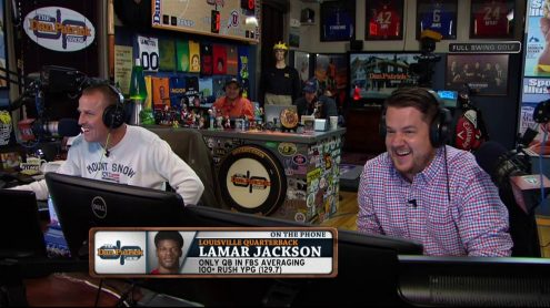Lamar Jackson says his mother would put on pad in backyard
