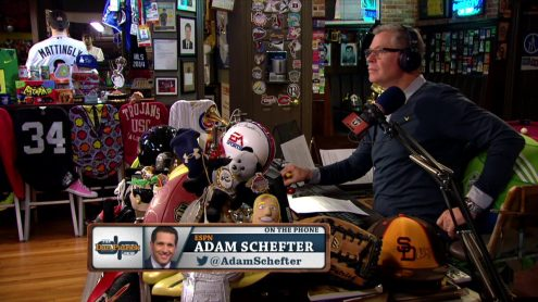 Adam Schefter on Chargers, Raiders moving; Gronk's health